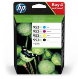 HP No953XL High Yield C/M/Y/K Ink Cartridge Blistered