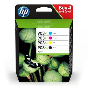 HP No903XL High Yield C/M/Y/K Ink Cartridge (3HZ51AE $DEL)