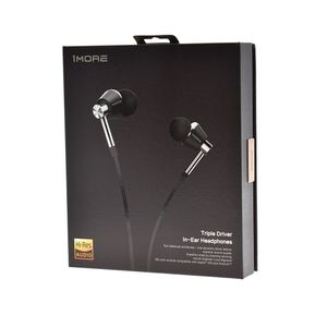 1MORE Triple-Driver In-Ear Headphones Silver (E1001-Silver)
