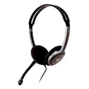 VIDEO SEVEN 3.5MM STEREO HEADSET W/NOISE CANCELLING BOOM MIC 1.8M CABLE   IN ACCS (HA212-2EP)
