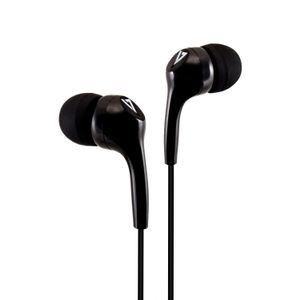VIDEO SEVEN 3.5MM STEREO EARBUDS NOISE ISOLATING 1.2M CABLE BLACK IN ACCS (HA105-3EB)