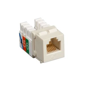 BLACK BOX USOC RJ-11 JACK - 1-PACK, OFFICE WHITE (FMT243)