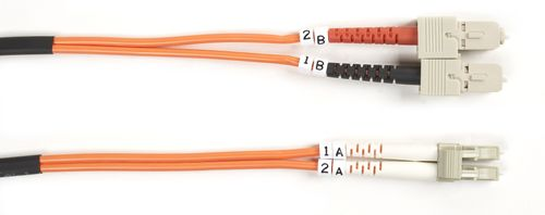 BLACK BOX FO OM1 MULTIMODE PATCH CABLES 62.5µM LSZH - LC-SC DUPLEX, 20M (EFE071-020M)