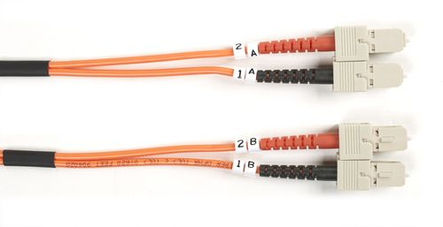 BLACK BOX FLAT-DUPLEX CABLE MULTIMODE OM3 - SC-SC, 20M (EFE355FD-020M)