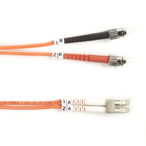 BLACK BOX FO OM2 MULTIMODE PATCH CABLES 50µM LSZH - LC-ST DUPLEX, 2M (EFE052-002M)