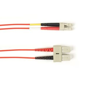 BLACK BOX FO Patch Cable Color 10Gbit Multi-m - Red LC-SC 1m Factory Sealed (FOCMR10-001M-SCLC-RD)