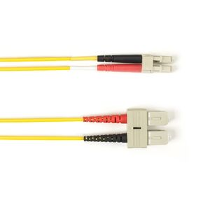 BLACK BOX FO Patch Cable Col Multi-m OM2 - Yellow SC-SC 25m Factory Sealed (FOLZH50-025M-SCLC-YL)
