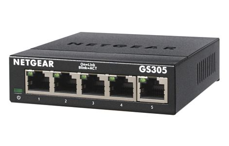 NETGEAR 5Pt Gige Unmanaged Sw 300-Series (GS305-300PES)