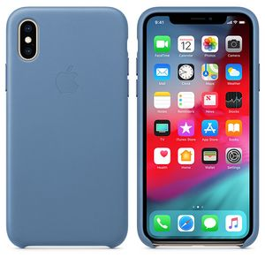 APPLE iPhone Xs Leather Case Cornflower (MVFP2ZM/A)