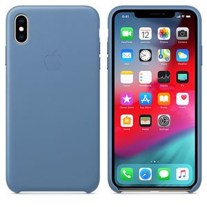 APPLE iPhone XS Max Leather Case - Cornflower (MVFX2ZM/A)