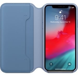 APPLE IPHONE XS LEATHER FOLIO CORNFLOWER-ZML (MVFD2ZM/A)