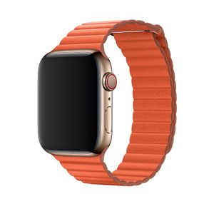 APPLE 44mm Leather Loop - Klockrem - Medium - solnedgång (MV602ZM/A)