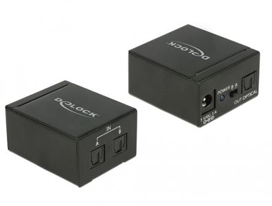 DELOCK TOSLINK Switch 2 x TOSLINK in to 1 x TOSLINK out (18767)