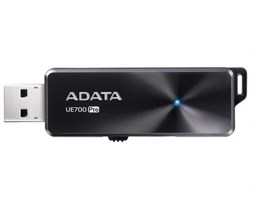 A-DATA Adata USB 3.1 Flash Drive UE700 Pro 128GB, R/W 360/180 MB/s BLACK (AUE700PRO-128G-CBK)