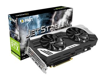 PALIT GeForce RTX 2060 SUPER JetStream Skjermkort,  PCI-Express 3.0, 8GB GDDR6, Turing (NE6206ST19P2-1061J)