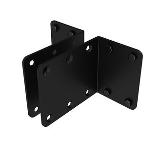 B-TECH BT8390-WFK4/ B Wall-To-Wall Rail Mounting Brackets (pair) (BT8390-WFK4/B)