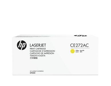HP 650A contract toner cartridge yellow standard capacity 15.000 pages 1-pack (CE272AC)