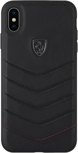FERRARI HERITAGE QUILTED LEATHER HARD CASE BLACK IPHONE 6.1 (FEHQUHCI61BK)