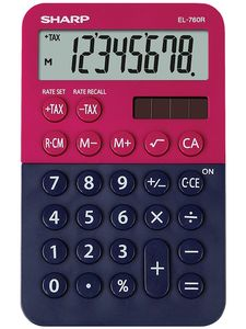 SHARP Desk Calculator EL-760R dark blue-red (SH-EL760RBRB)