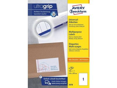 AVERY 3478 ILC labels 210x297 (100) (3478)
