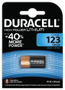 DURACELL Ultra Lithium Photo 123 Battery, 1pk