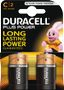 DURACELL Plus Power C Batteries,  2pk