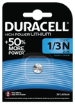 DURACELL 1/3N Lithium High Power Battery, 1pk
