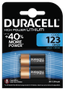 DURACELL Ultra Photo 123 Batteries,  2pk