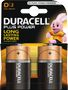 DURACELL Plus Power D Batteries,  2pk