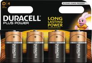 DURACELL Plus Power D Alkaline Batteries,  4pk