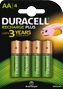 DURACELL Recharge Plus AA 1300mAh Batteries,  4pk