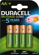 DURACELL Recharge Ultra AA 2400mAh, 4pk - Precharged