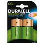 DURACELL Recharge Ultra D 3000mAh Batteries,  2pk