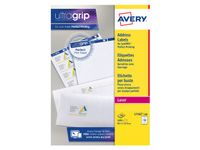 AVERY White Adressing Labels For Laser 99.1x33.9mm 16 Labels/ Sheets **100-pack** (L7162-100)