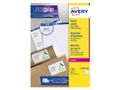 AVERY White Parcelling Labels For Laser 99.1x139mm 4 Labels/ Sheets **100-pack**