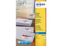 AVERY White Adressing Labels For Inkjet 63,5x33,9 mm 24 Labels/ Sheets ** 25-pack** (J8159-25)