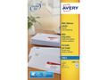 AVERY Mini Adressing Labels For Inkjet 38.1x21.2mm White 65 Labels/ Sheets **25-pack**
