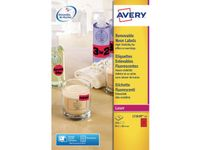 AVERY Labels red L7263 (25SH) (L7263R-25)