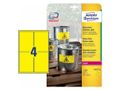 AVERY Yellow Heavy Duty Labels Durable resistant, 99,1x139mm 4 labels/sheet 20 sheets/pack