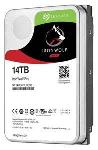"""SEAGATE Ironwolf PRO 14TB 3,5"""" NAS PRO 3,5"""", 7200RPM, SATA 6.0Gb/s, 256Mb Cache, 2 years data rescue, 5 years warr (ST14000NE0008)"""