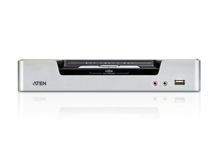 ATEN KVM Sw.  2P. USB Dual-DVI Audio (CS1642A-AT-G)
