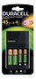 DURACELL Charger 4 Hours + 2 x AA Recharge Plus Battery