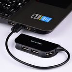 AXAGON 4x USB2.0 READY Hub. Black Factory Sealed (HUE-X4B)