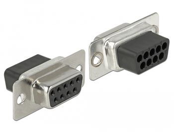 DELOCK Adapter Sub-D 9 pin female to RJ45 female Assembly Kit Seriel adapter Grå (66164)