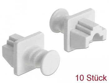 DELOCK Dust Cover for RJ45 jack 10 pieces white (86507)