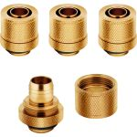 CORSAIR Hydro X Fitting Softline XF Compression 10/13mm, Fittings 4-Pack, Gold (CX-9051007-WW)