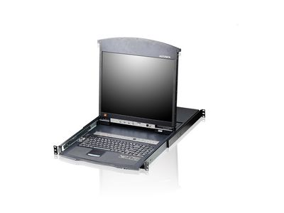 "ATEN 16-Port 19"" LCD CAT5e/6 KVM Switch Dual Rail Factory Sealed (UK English) (KL1516AN GB)"