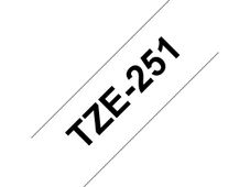 BROTHER TZE-251 LAMINATED TAPE 24MM 8M BLACK ON WHITE SUPL