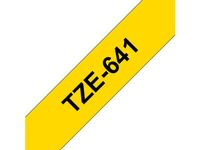 BROTHER 18MM Black On Yellow Tape (TZE641)