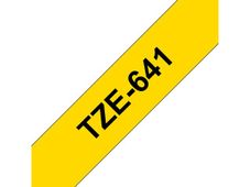 BROTHER TZE-641 LAMINATED TAPE 18MM 8M BLACK ON YELLOW SUPL